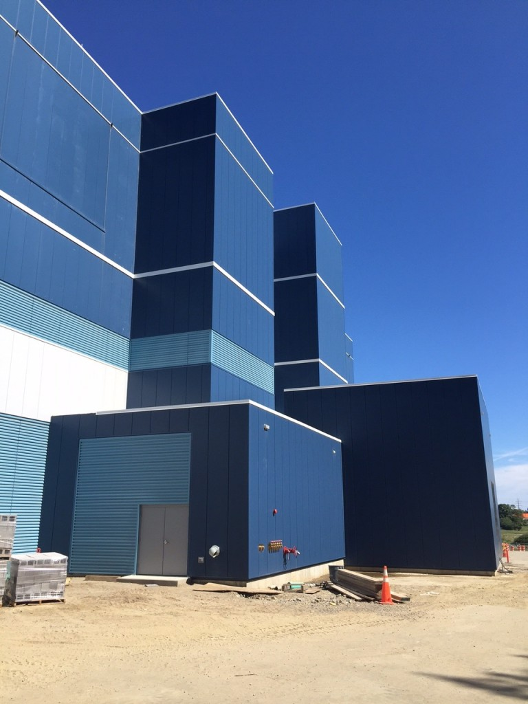 Progress photo of the Lonza project! Centria insulated metal