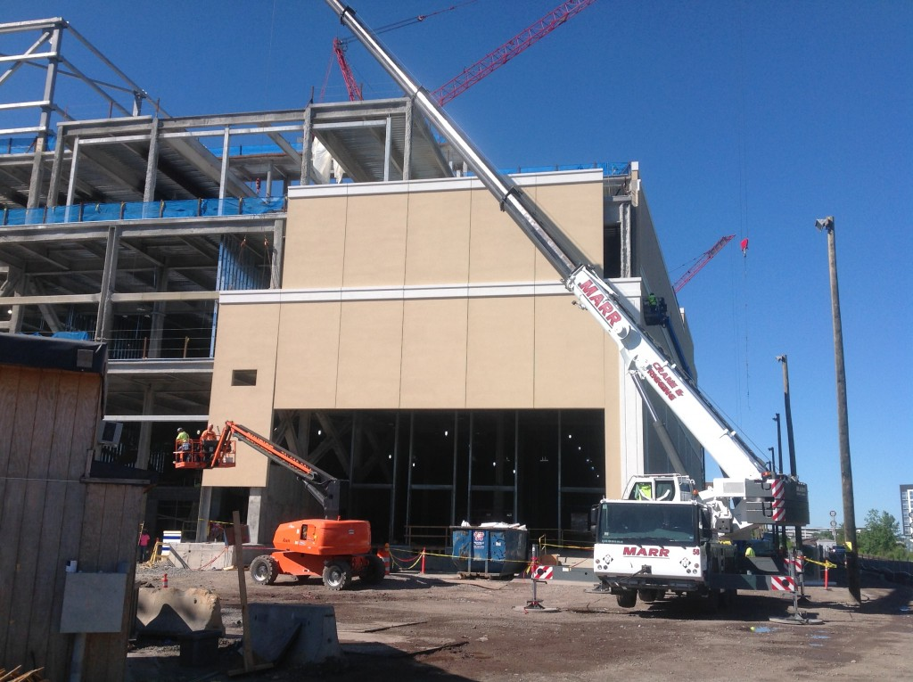 Installation Of Pre Fabricated Eifs Panels From Eastern Exterior Wall Systems Is Well Underway
